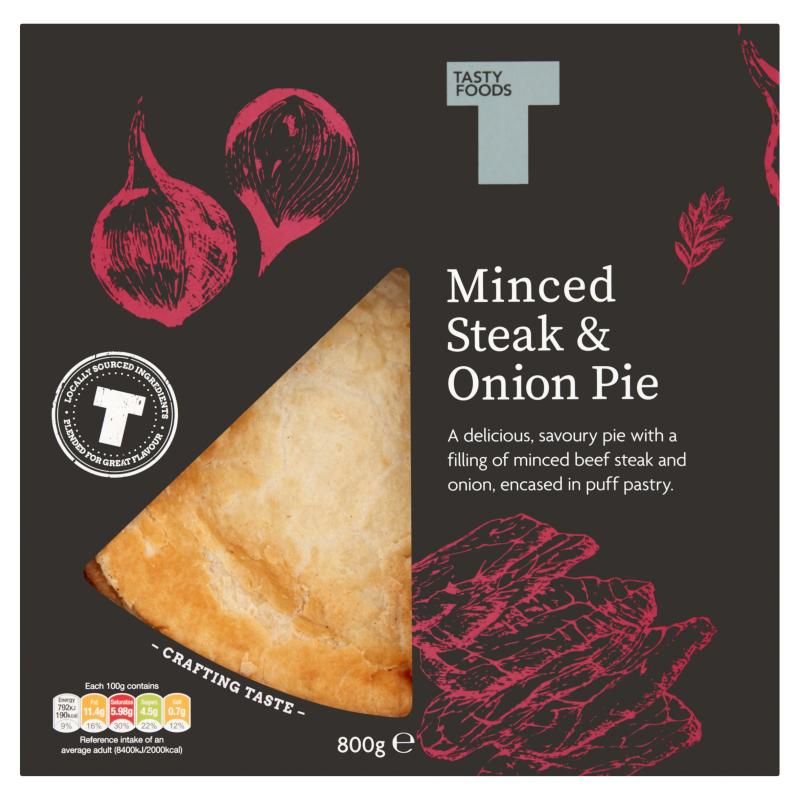 Minced Steak & Onion Pie 800g - Tasty Foods Cuisine